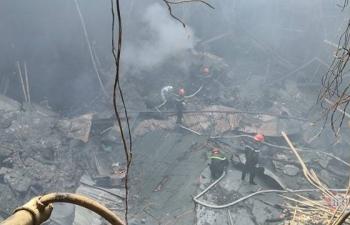 Cháy hội trường Cung văn hóa hữu nghị Việt - Xô: Mái vòm sân khấu chính đổ sập