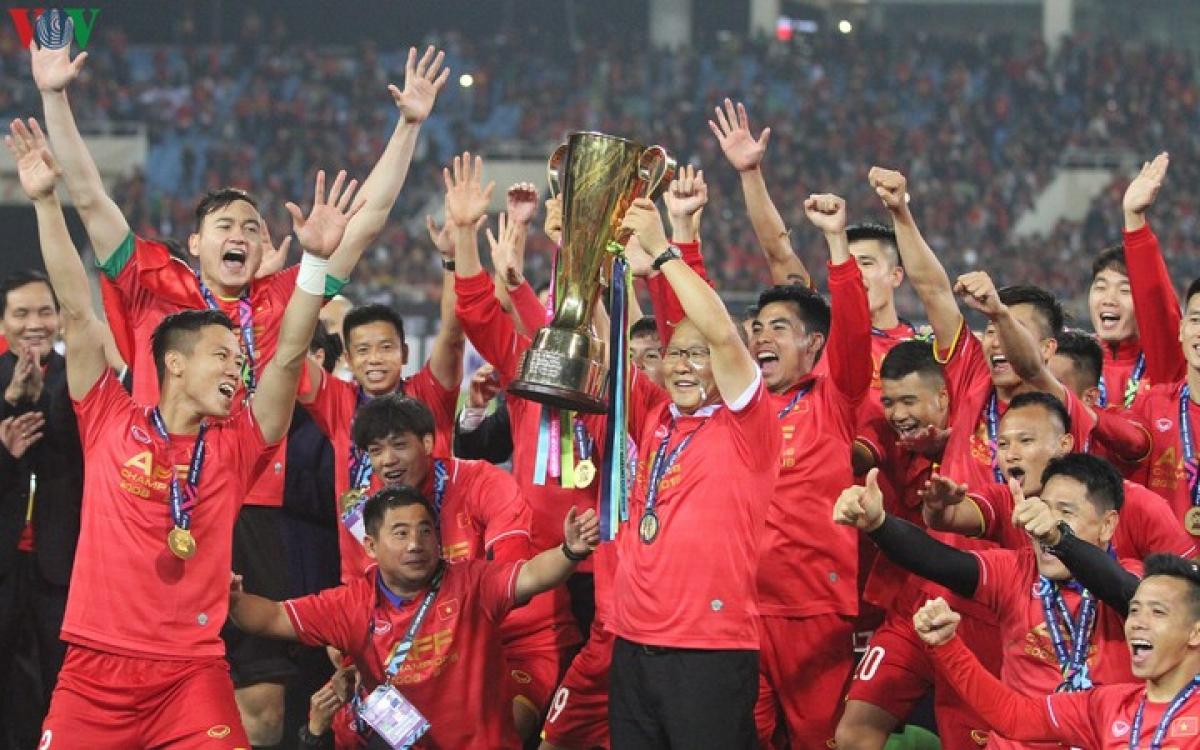 ĐT Việt Nam đang là ĐKVĐ AFF Cup. (Ảnh: Vy Vũ)