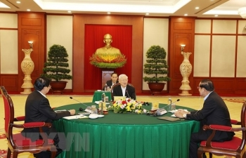 Tổng Bí thư Nguyễn Phú Trọng dự cuộc gặp cấp cao VN-Campuchia-Lào