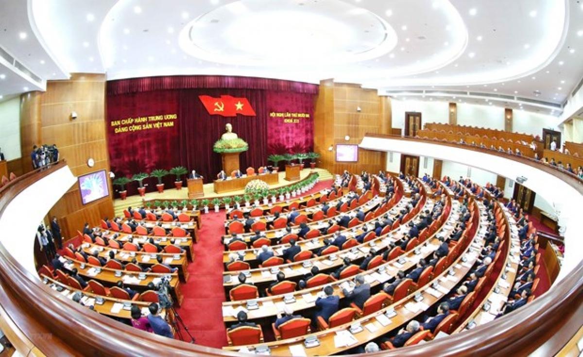 Quang cảnh Hội nghị thứ 13 Ban Chấp hành TW Đảng khóa XII. (Nguồn: TTXVN)