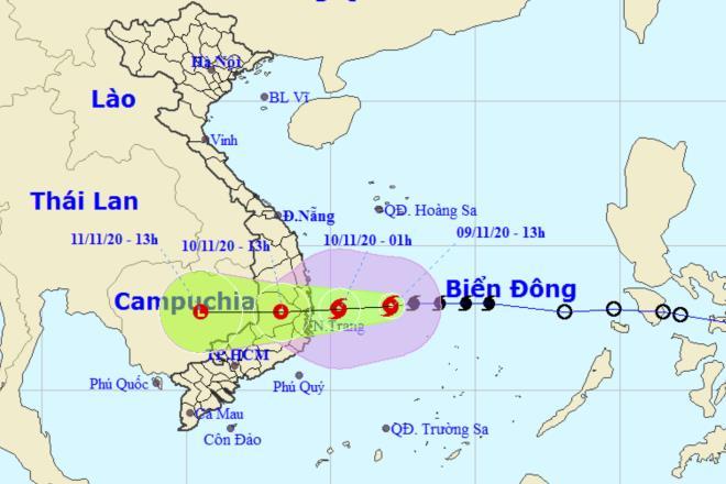 Bão số 12 tăng cấp, đi vào đất liền Bình Định - Ninh Thuận trong ngày mai - 1