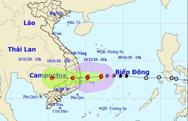 Bão số 12 tăng cấp, đi vào đất liền Bình Định - Ninh Thuận trong ngày mai