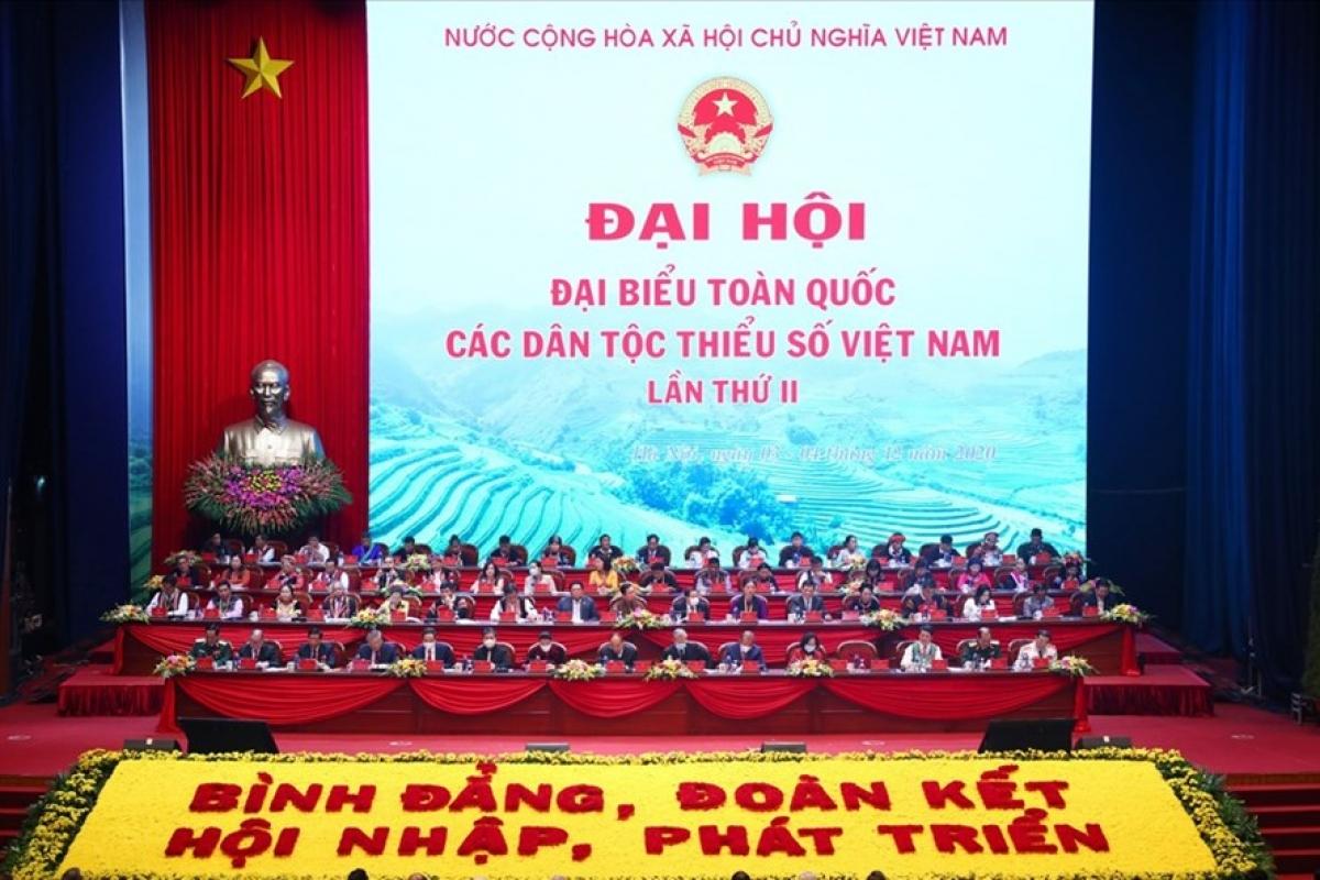 Đại hội Đại biểu toàn quốc các dân tộc thiểu số Việt Nam khai mạc sáng 4.12. Ảnh: Tô Thế.