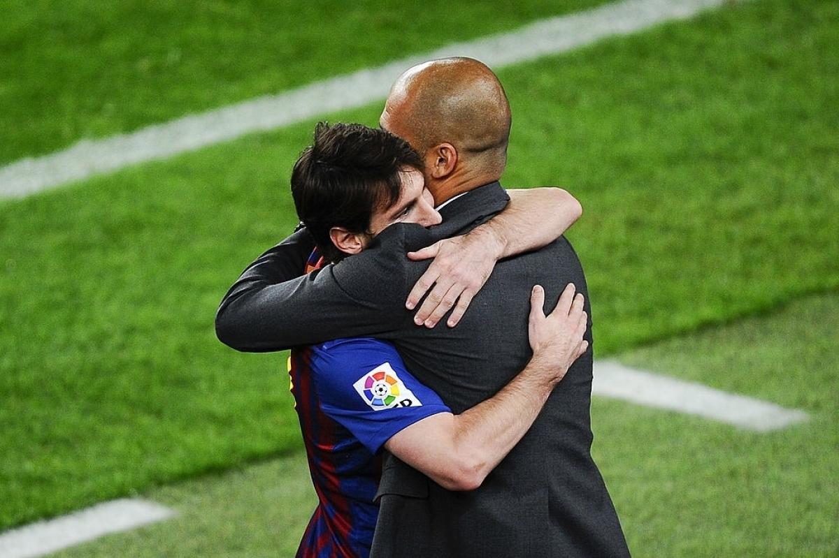 Man City có thể giành được chữ ký của Messi nhờ HLV Pep Guardiola (Ảnh: Getty).