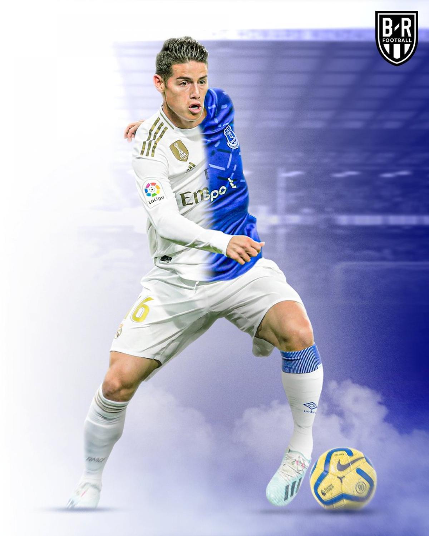 """James Rodriguez từ """"người thừa"""" ở Real Madrid trở thành nguồn cảm hứng của Everton./."""