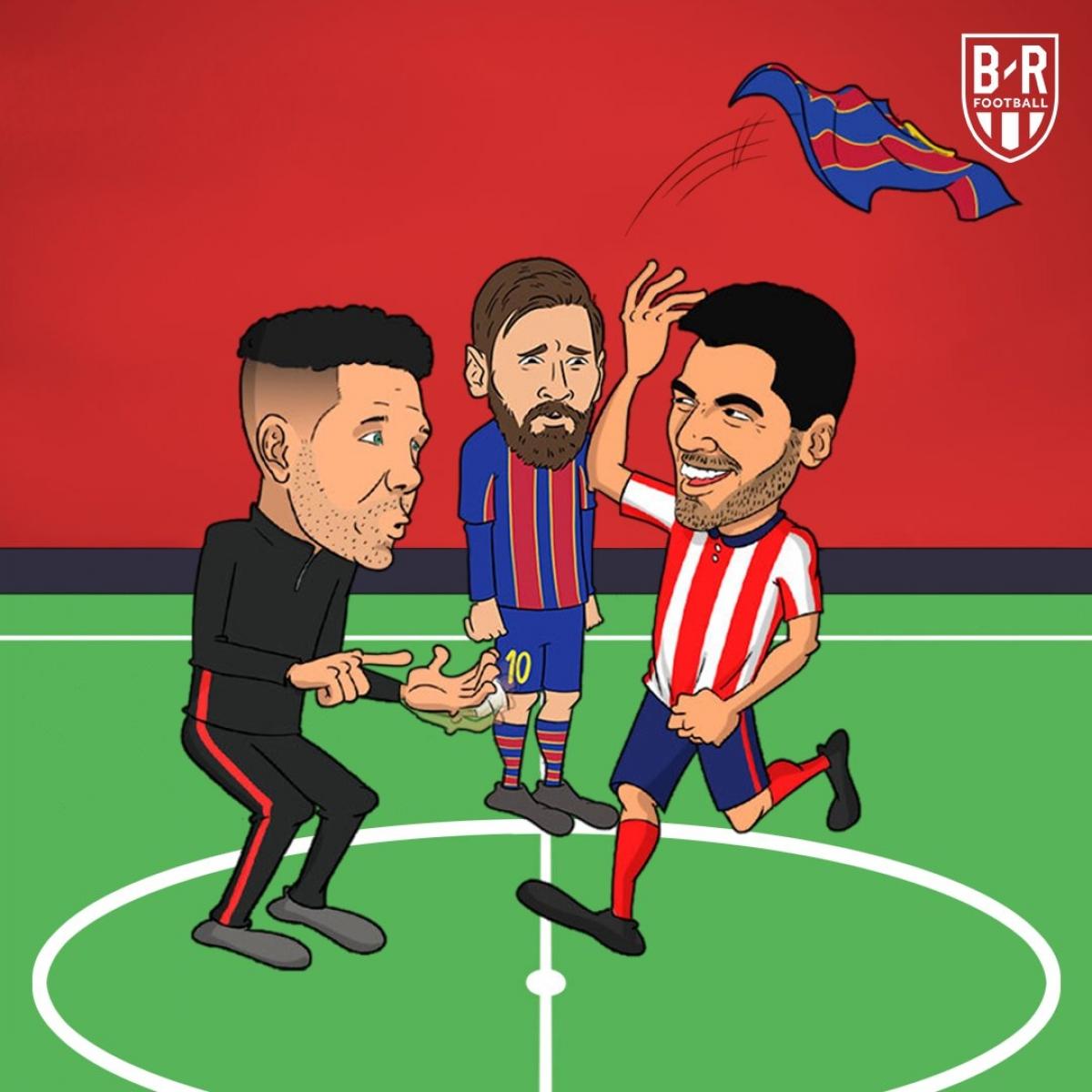 Luis Suarez dứt áo Barca để chuyển tới Atletico Madrid.