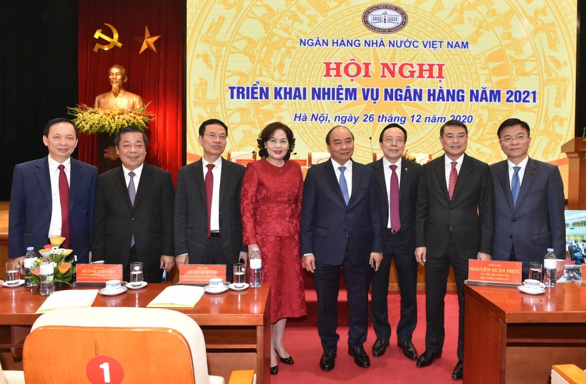 Thủ tướng Nguyễn Xuân Phúc cùng các đại biểu dự Hội nghị. (Ảnh: VGP)