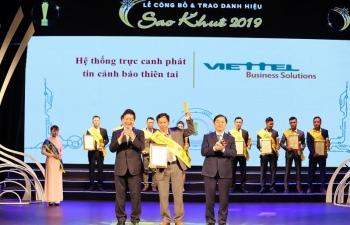 Viettel lập kỷ lục về số sản phẩm dịch vụ đạt giải thưởng Sao Khuê 2019