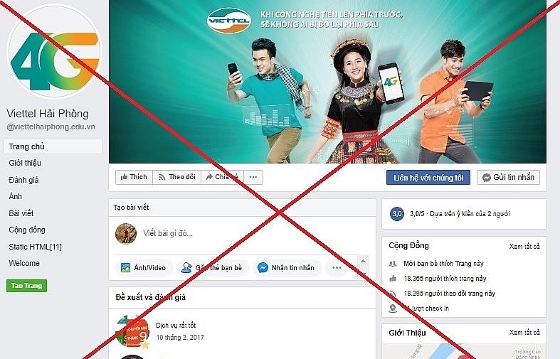 Viettel gỡ bỏ 186 trang mạo danh trên Facebook