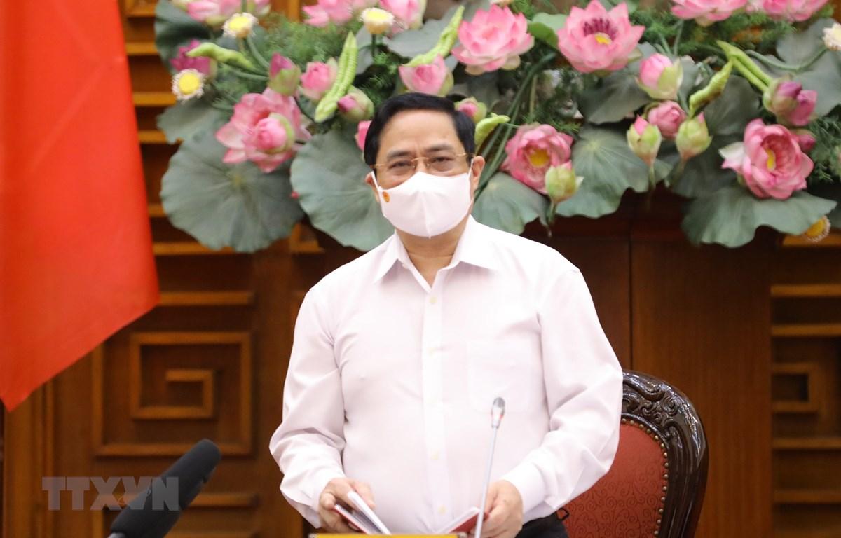 Thủ tướng Phạm Minh Chính phát biểu. (Ảnh: Văn Điệp/TTXVN)