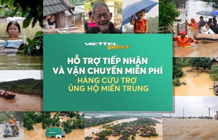 Viettel Post tổ chức tiếp nhận và vận chuyển hàng cứu trợ đến đồng bào miền Trung