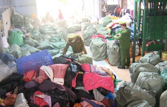 Thanh Hóa: Phát hiện và tịch thu hơn 11 tấn quần áo đã qua sử dụng