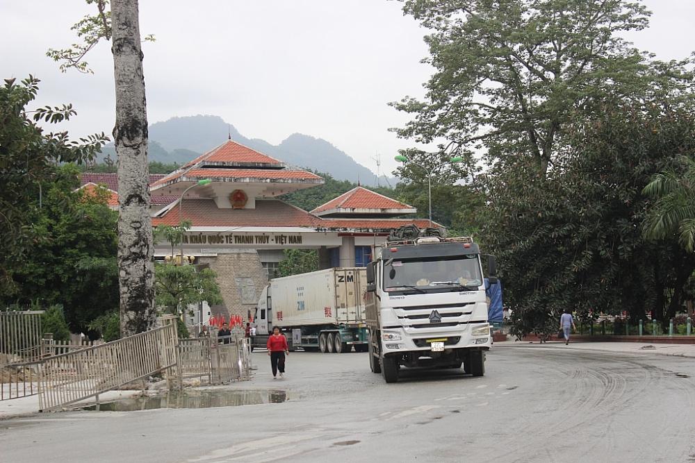 Cửa khẩu quốc tế Thanh Thủy (Hà Giang). Ảnh: N.Linh