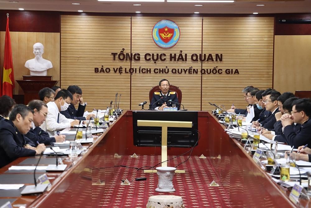 Tổng cục trưởng Nguyễn Văn Cẩn chủ trì cuộc họp. Ảnh: Thái Bình