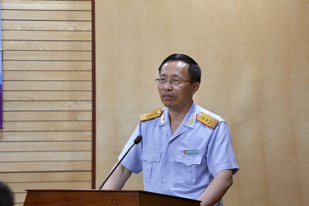 Tổng cục trưởng Nguyễn Văn Cẩn phát biểu tại hội nghị.