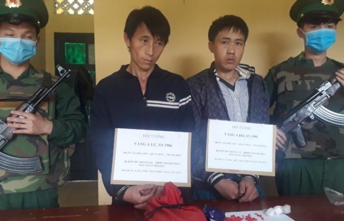 Phát hiện hai đối tượng vận chuyển ma tuý từ Lào về Việt Nam