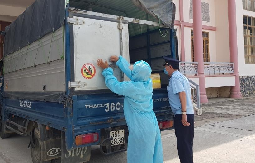 Thanh Hóa: Hải quan cửa khẩu phòng, chống dịch ở mức cao nhất