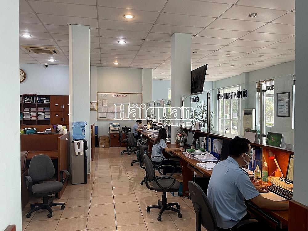 CBCC Chi cục Hải quan quản lý khu công nghiệp Bắc Giang thực hiện nghiệp vụ trên hệ thống.