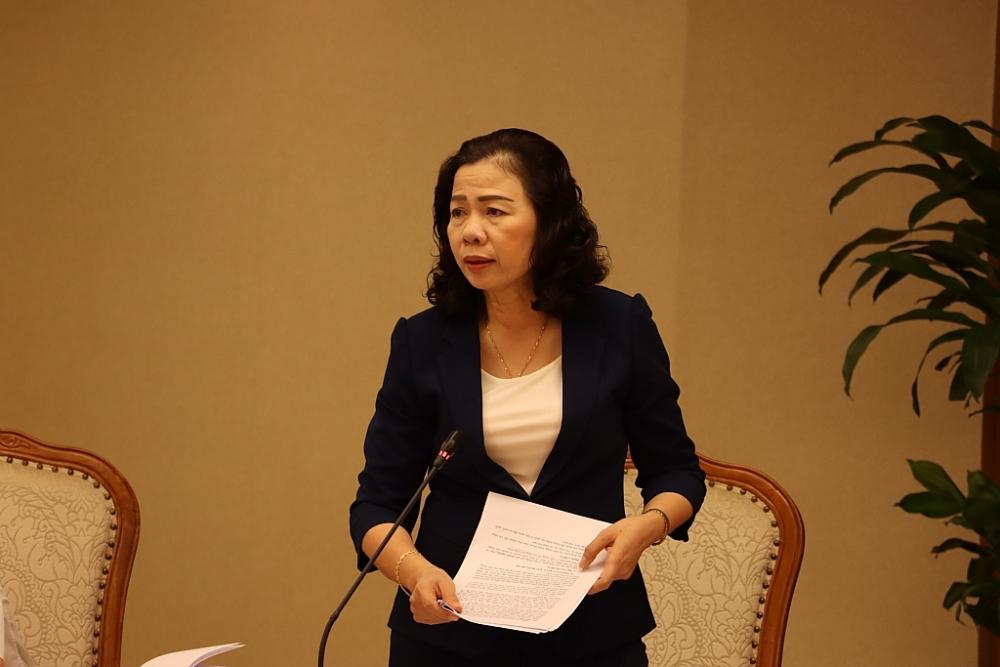 Thứ trưởng Bộ Tài chính phát biểu. Ảnh: N.Linh