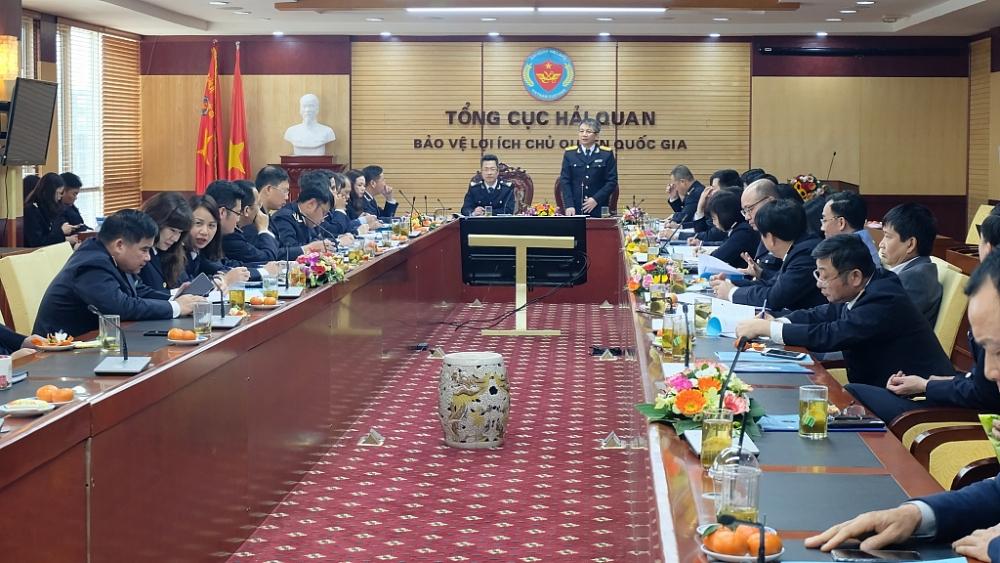 Phó Tổng cục trưởng Mai Xuân Thành phát biểu tại hội nghị Tổng kết công tác năm 2020 của Cục Giám sát quản lý về hải quan.