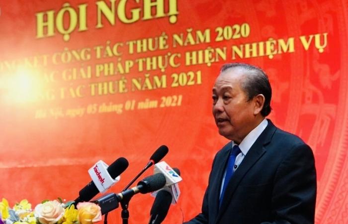 Phó Thủ tướng Trương Hoà Bình: Ngành Thuế cần quyết tâm chống