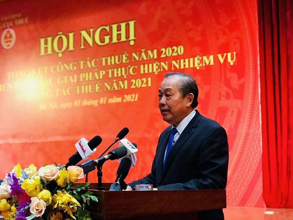 """Phó Thủ tướng Trương Hoà Bình: Ngành Thuế cần quyết tâm chống """"virus trì trệ"""""""