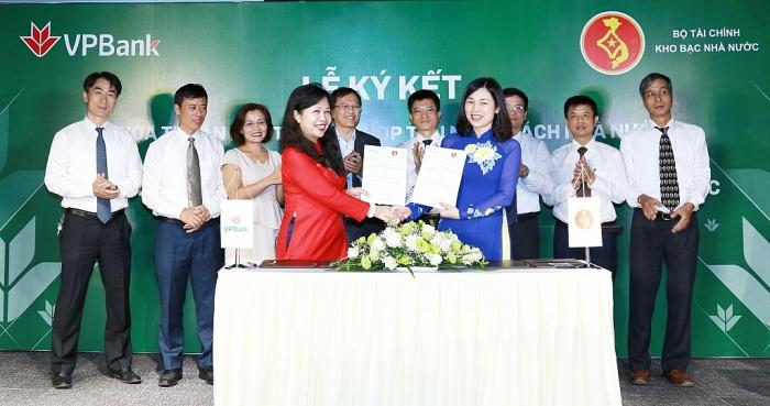 Kho bạc Nhà nước kí kết phối hợp thu ngân sách nhà nước với VPBank