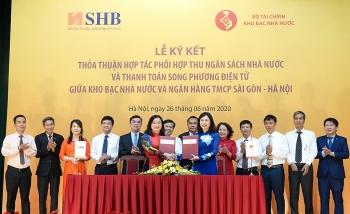 Kho bạc Nhà nước và SHB ký thỏa thuận hợp tác song phương