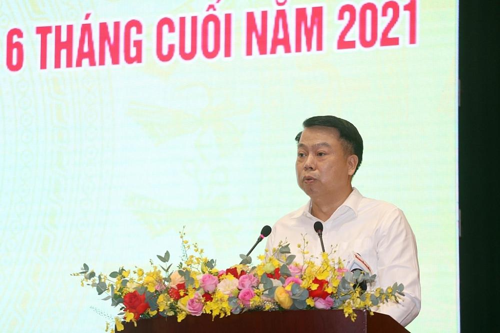 Tổng cục trưởng Tổng cục Thuế Cao Anh Tuấn phát biểu tại Hội nghị.