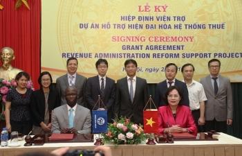Kí kết Hiệp định viện trợ Dự án Hỗ trợ hiện đại hoá hệ thống thuế Việt Nam