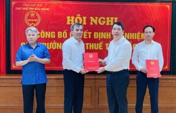 Tổng cục Thuế công bố các quyết định điều động và bổ nhiệm lãnh đạo Cục Thuế Bắc Ninh và Bắc Giang