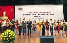 lo dien 1000 doanh nghiep nop thue thu nhap doanh nghiep lon nhat nam 2018