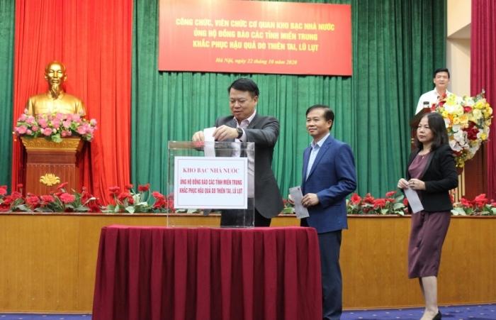 Kho bạc Nhà nước phát động quyên góp ủng hộ đồng bào miền Trung