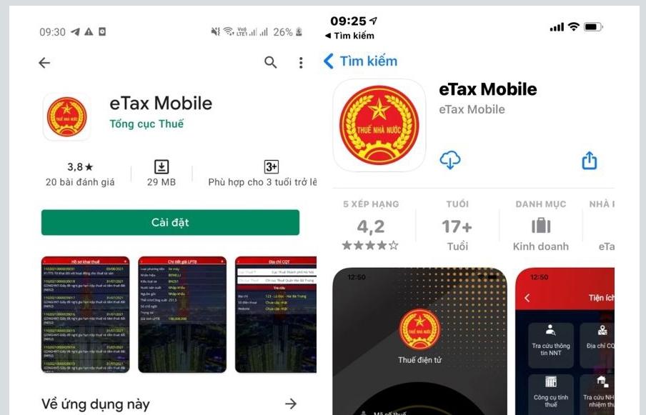 Tổng cục Thuế chính thức giới thiệu ứng dụng eTax trên thiết bị di động