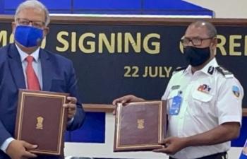 Hải quan Maldives và Ấn Độ ký kết Biên bản ghi nhớ nhằm thông quan nhanh hàng hóa