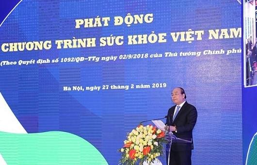 thu tuong nguyen xuan phuc phat dong chuong trinh suc khoe viet nam