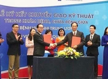 Bệnh viện Bắc Hà ký kết hợp tác với Bệnh viện Nhi Trung ương