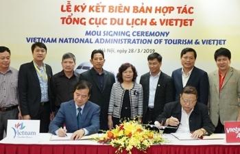 Tổng cục Du lịch và Vietjet Air ký kết hợp tác xúc tiến, quảng bá du lịch