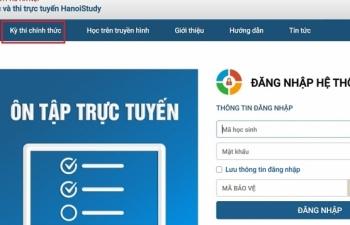Hà Nội: Khảo sát chất lượng học sinh lớp 12 bằng hình thức trực tuyến