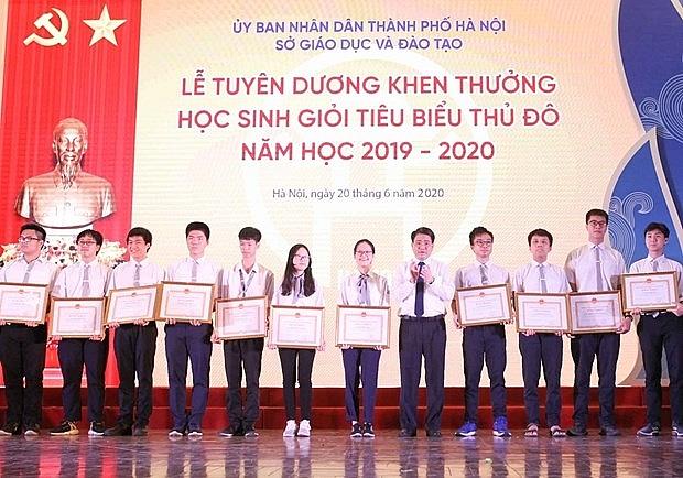 Hà Nội tuyên dương 509 học sinh giỏi tiêu biểu