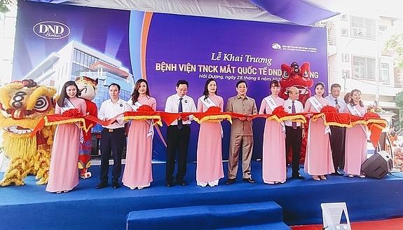 Khai trương bệnh viện chuyên khoa mắt theo tiêu chuẩn quốc tế đầu tiên tại Hải Dương