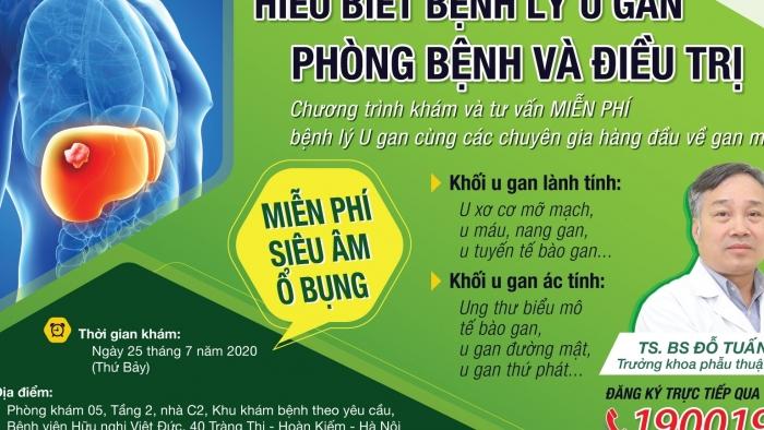 BV Hữu nghị Việt Đức khám, tư vấn miễn phí bệnh lý u gan