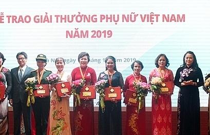 trao giai thuong phu nu viet nam nam 2019