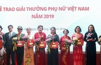 Trao Giải thưởng Phụ nữ Việt Nam năm 2019