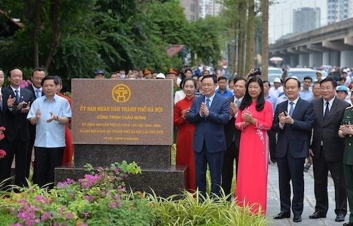Hà Nội: Thông xe đường Vành đai 3 đi qua hồ Linh Đàm