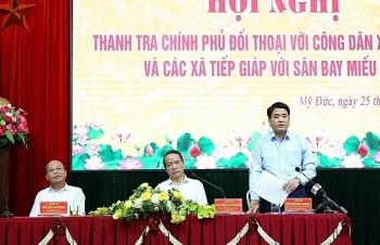 Thanh tra Chính phủ, Hà Nội đối thoại với người dân vụ sân bay Miếu Môn