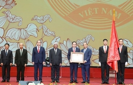 Trao tặng Huân chương Hồ Chí Minh cho Mặt trận Tổ quốc Việt Nam