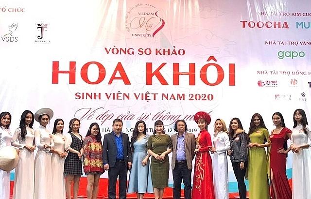 """Sơ khảo cuộc thi """"Hoa khôi Sinh viên Việt Nam"""" tại Hà Nội"""