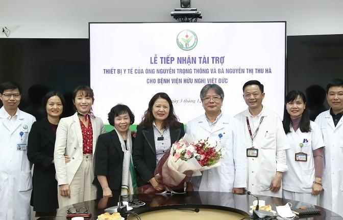 Trao tặng thiết bị y tế trị giá 1,4 tỉ đồng cho BV Hữu nghị Việt Đức