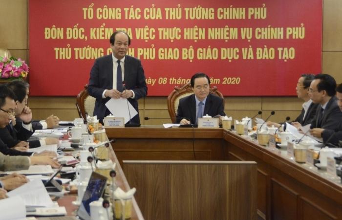 Bộ GD&ĐT báo cáo về việc cắt giảm và đơn giản thủ tục hành chính